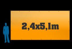 6 ks reklamních plachet 2,4x5,1m